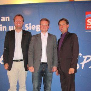 v. li. Folke große Deters (Vorsitzender SPD Rheinbach), Frank Schwabe  (klimapolitischer Sprecher der SPD-Bundestagsfraktion) und Sebastian  Hartmann (Vorsitzender der SPD Rhein-Sieg).