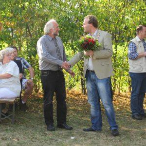 SPD  beglückwünscht neuen Ortsvorsteher Kalle Kerstholt.