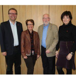 Die Spitzenkandidaten der SPD-Rheinbach, v.l. Folke große Deters, Ute Krupp, Dietmar Danz, Martina Koch
