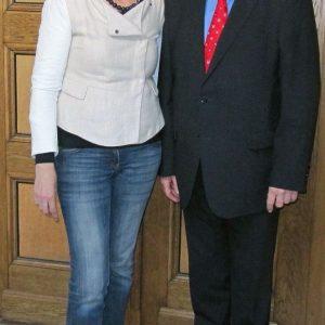 SPD-Fraktionsvorsitzende Martina Koch und SPD-Vorsitzender Dietmar Danz fordern einen Kassensturz der Rheinbacher Finanzen