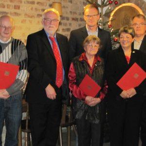 v.l. Bernhard Schmitz, Dietmar Danz Reimund Koch, Christa Heinen, Corinna Schulze-Quabis, Hann-Jörg Limbach
