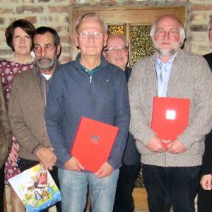 v.l. Jürgen Hoffmann, Martina Koch, Werner Nachtigall, Walter Langer, Siegfried Bierwirth, Kalle Kerstholt, Dietmar Danz, Andrea Kaminski