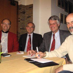 v.l.n.r. Dr. Robert Datzer, Werner Albrecht, Jochen Dieckmann, Gert-Uwe Geerdts