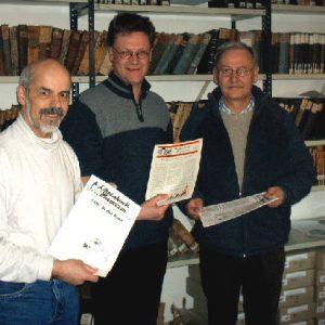 Gert-Uwe Geerdts, Stadtarchivar Dietmar Pertz, Walter Langer