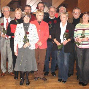 Ulrike Merten MdB mit geehrten, langjährigen SPD-Mitgliedern