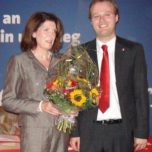 Martina Koch nach einstimmiger Nominierung mit Folke große Deters