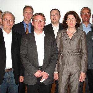 Bürgermeisterkandidatin Martina Koch mit den  SPD-Kandidaten für Südwest und die Referenten