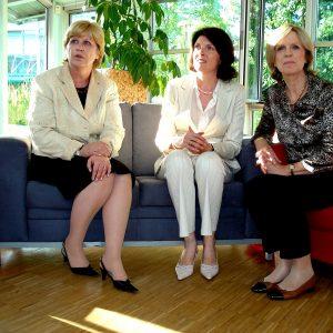 Ulrike Merten, Martina Koch und Bärbel Dieckmann