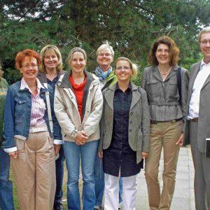 Elternbeiratsmitglieder mit Ute Krupp, Achim Tüttenberg und Martina Koch