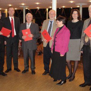 v.l.n.r.  Peter Schneider, Folke große Deters, Theo Schmitt, Dietmar Danz, Corinna  Schulze-Quabis, Martina Koch und Leo Brill